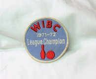 71-72 WIBC League Champion Women's International Bowling Embroidered Patch in Kingwood, Texas
