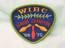 69-70 WIBC League Champion Women's International Bowling Embroidered Patch in Kingwood, Texas