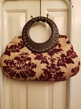 Tapestry Cloth Fashion Studded Purse in Kingwood, Texas
