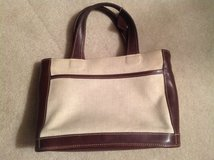Coach Linen and Brown Purse in Naperville, Illinois