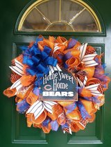 Home Sweet Home Bears Mesh Wreath in Naperville, Illinois