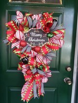 Merry Christmas Mesh Wreath/Swag in Plainfield, Illinois