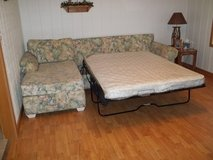 SECTIONAL COUCH w/ QN SLEEPER SOFA - GREAT CONDITION! in Cherry Point, North Carolina