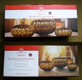 Decorative Glass Pumpkins - Set of 3 NEW in Perry, Georgia