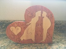 Wooden Lovers Heart Puzzle in Fort Leonard Wood, Missouri