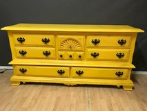 Bright Yellow Dresser Buffet Entertainment Center Bedroom Furniture in Fort Leonard Wood, Missouri