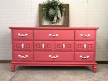 Bright Pink Coral Dresser Tween Teen All Wood Nursery Changing Table in Rolla, Missouri