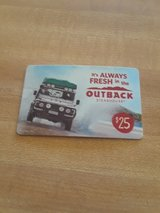 25$ gift card to outback in Fort Irwin, California