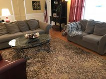Living room couches, curtains, area rugs in Westmont, Illinois