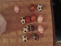 Sports balls shape Easter eggs in Batavia, Illinois
