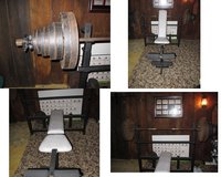 Olympic weight set w/Bench in Sandwich, Illinois