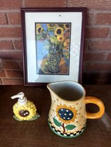 sunflower soap container, picture and jar in Fort Bliss, Texas