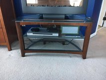 Wood and Glass TV Stand, Entertainment Center in Shorewood, Illinois