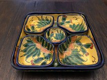 Mexican Talavera divided Serving Tray with 5 compartments (hand painted - lead free) in Travis AFB, California