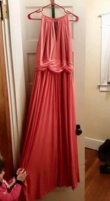Coral color gown in Watertown, New York