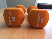 New REEBOK 5LB Neoprene Coated Dumbbells Non-Slip Grip Set of 2 in Chicago, Illinois