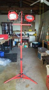 Red Flood Lights on tripod like new have a set of 2 in Fort Leonard Wood, Missouri
