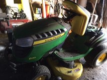 "John Deere 42"" D-130 Riding Lawn Mower includes trailer and lift in Vacaville, California"