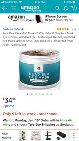 Dead Sea mud mask in Fort Campbell, Kentucky