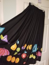 Ladies long skirt with fruit pattern in Kingwood, Texas