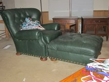 Chair with Ottoman, All Leather (Large) in Fort Rucker, Alabama