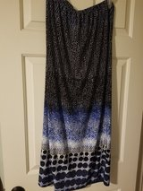 Ladies black and blue long dot skirt in Spring, Texas