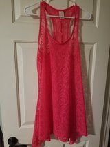 Juniors pink swim cover up in Spring, Texas