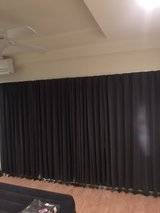 Grey Blackout Curtains in Okinawa, Japan