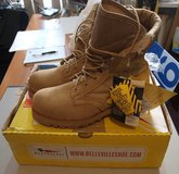belleville USA steel toe safety toe boot, tan; new in box; men's 9.5; MODEL 220 DESS in Okinawa, Japan