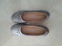 Silver flats size 8 1/2 & 9 . New and like new in Okinawa, Japan