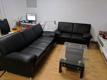 3 Sofa & Coffee Table Set  (Very New- Black) in Heidelberg, GE