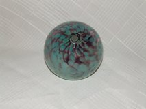 Art Glass Bud Vase Pen Holder Paperweight Scottish Artist Ryan Signed in Batavia, Illinois
