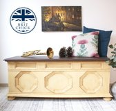 Shabby Chic Chest/Trunk Mustard/Yellow in Ramstein, Germany