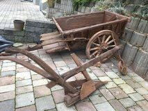 **antique plowing cart, over 100 years old** in Ramstein, Germany
