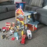 KidKraft Deluxe Fire Station with accessories in Baytown, Texas