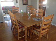 Oak Amish Dining Table 8 Chairs Included in Tinley Park, Illinois