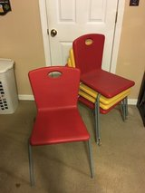 Plastic and Metal Stackable Chairs(set of 5) in Camp Lejeune, North Carolina