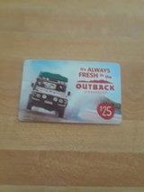 25$ outback gift card in Fort Irwin, California