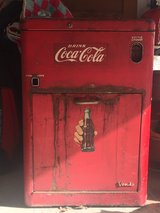 Vintage 1950's A23E Vendo Coca-Cola vending machine in Conroe, Texas
