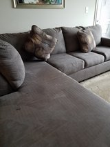 Sectional couch grey with pillows in Fairfax, Virginia