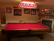 Connelly Pool Table, Tiffany Style Stained Glass Light, Ping Pong Table Top in Bolingbrook, Illinois