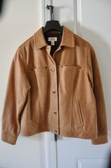 Talbots Brown Leather Jacket (Med)(Negotiable) in Gloucester Point, Virginia
