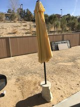Umbrella and concrete stand in 29 Palms, California