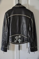 Double D Ranchwear Black Leather Jacket (Negotiable) in Gloucester Point, Virginia