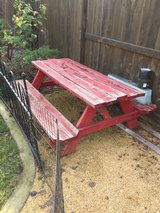 Picnic table in Vacaville, California