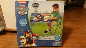 Toddler paw patrol table in Fort Drum, New York