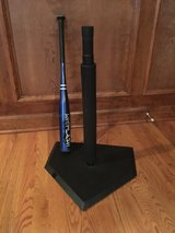 TBall stand and Worth bat in Naperville, Illinois