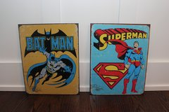 Batman / Superman Metal Signs in Sandwich, Illinois