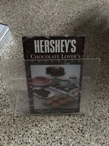 Hershey's Chocolate Lovers cookbook with stand in Camp Pendleton, California