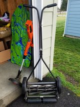 push lawn mower&electric trimmer in Fort Lewis, Washington